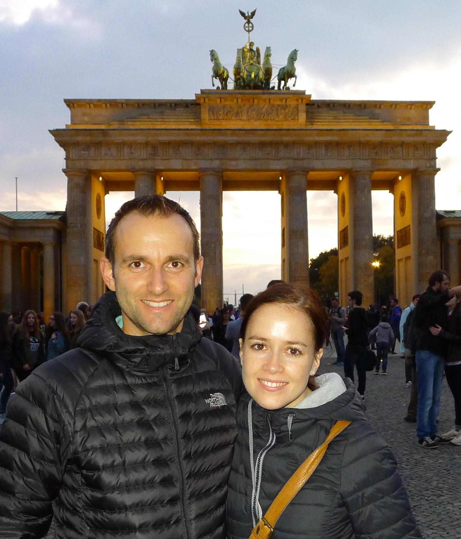 Thomas Rubel und Anne; Berlin Marathon